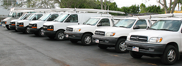 Our Desoto Plumbing Team Fleet Is Ready to Roll