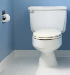 Toilet after a drain cleaning by a plumber in Desoto